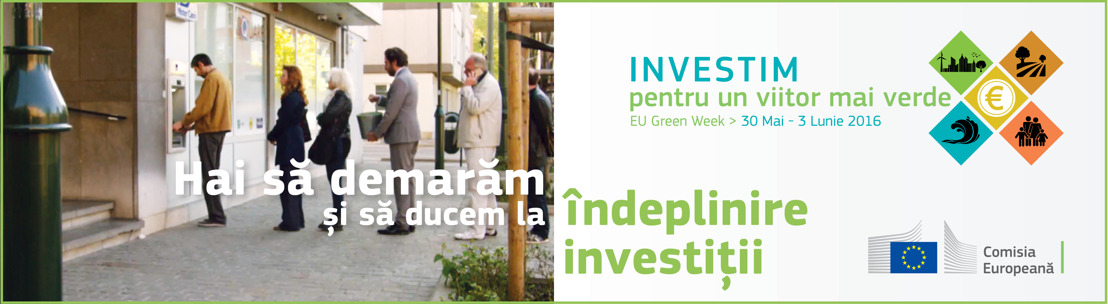 Vicepreședintele Comisiei Europene va vorbi despre investiții ecologice