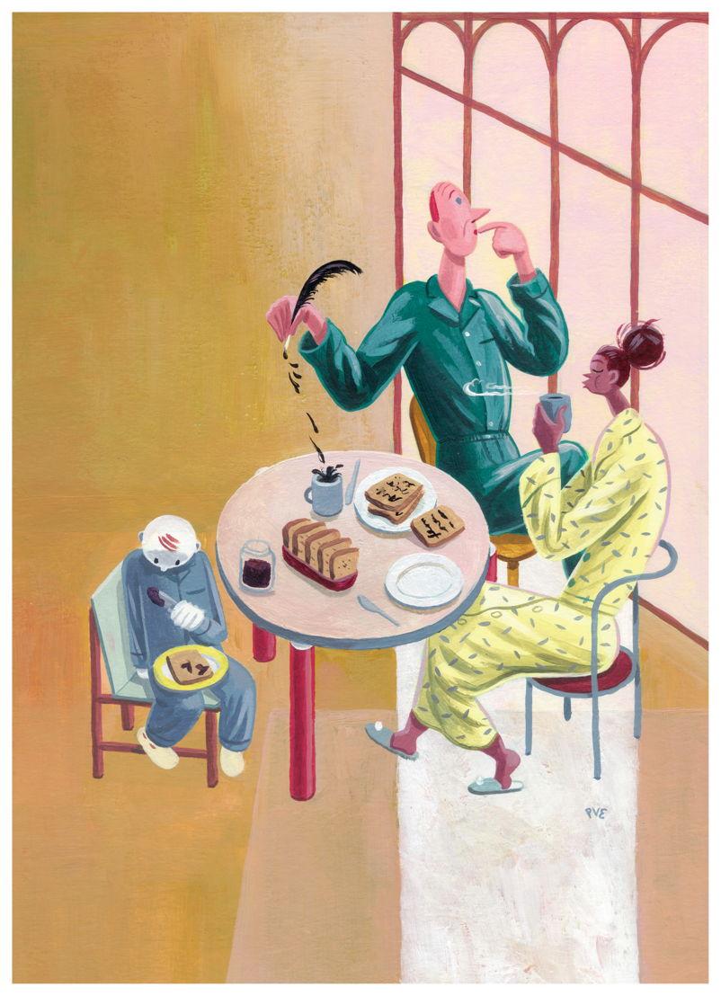 Campagnebeeld Toast Literair (illustrator: Pieter Van Eenoge)