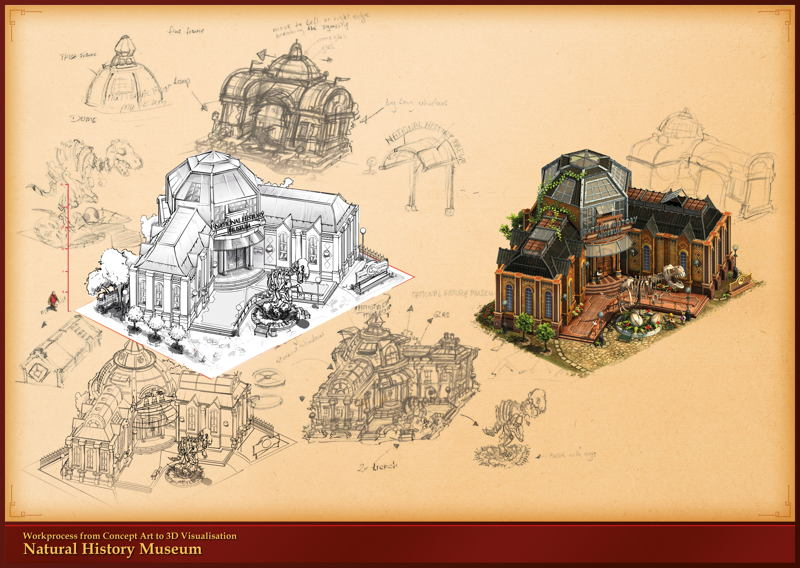 Concept Art 3D Forge of Empires