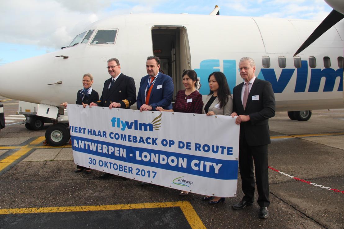 VLM Airlines viert zijn comeback op de route Antwerpen - London City