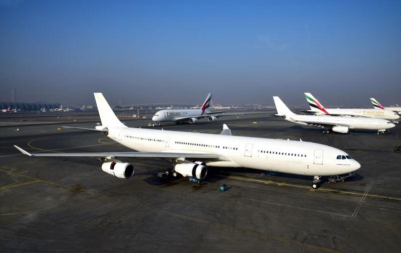 آخر طائرة إيرباص A340 أخرجتها طيران الإمارات من الخدمة مؤخراً.