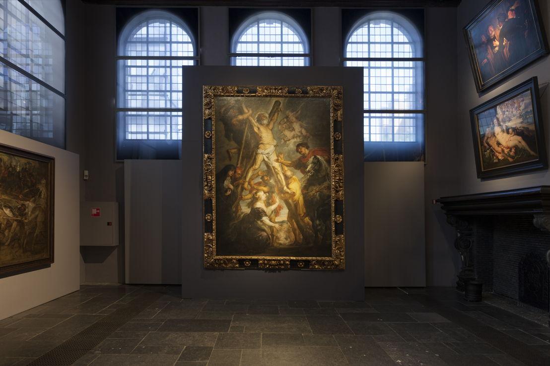 eter Paul Rubens, Marteldood H. Andreas (in situ in Rubenshuis), Fundación Carlos de Amberes te Madrid, foto Ans Brys