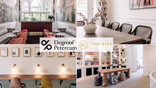Degroof Petercam soutient le cercle d'affaires de femmes 'The Nine' en tant que corporate sponsor.