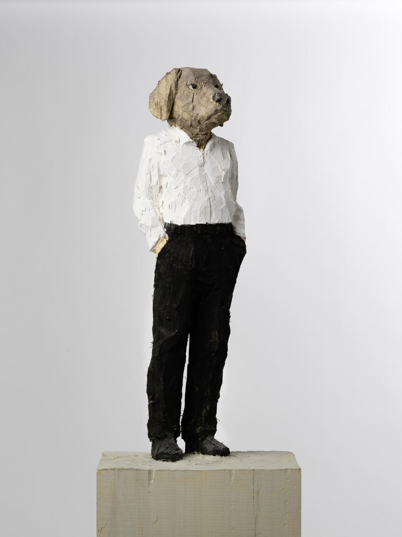 Stephan Balkenhol - Man – Hond, 2015<br/>* Bruikleen privécollectie. Foto Cedric Verhelst