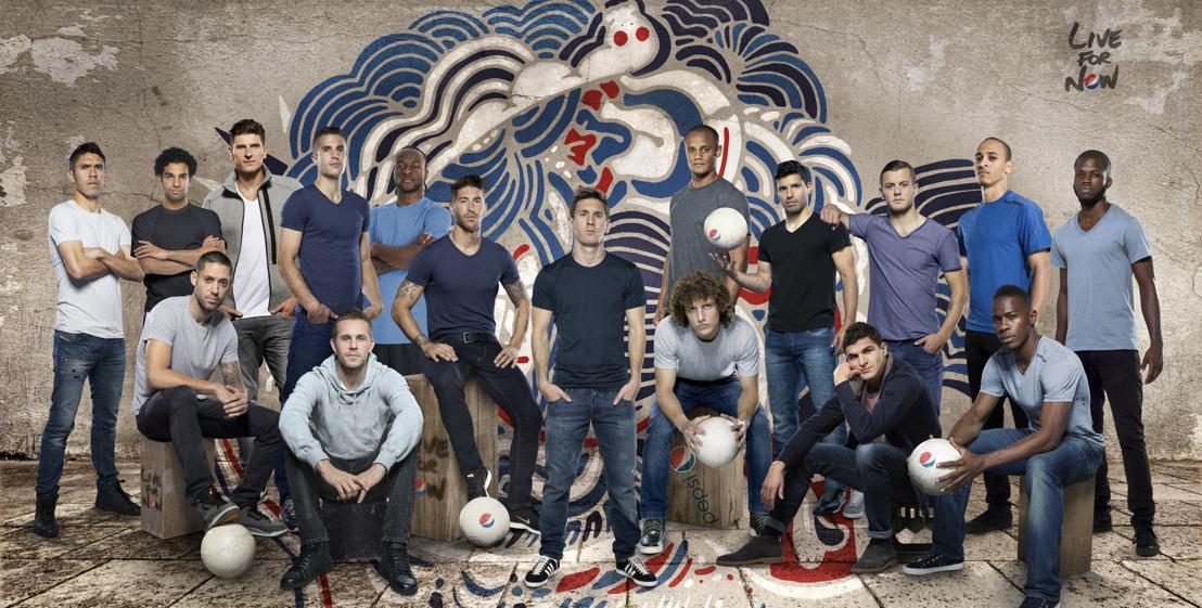Pepsi scoort met globaal voetbal superteam samengesteld uit 19 internationale toppers uit 5 continenten en bijna 20 landen