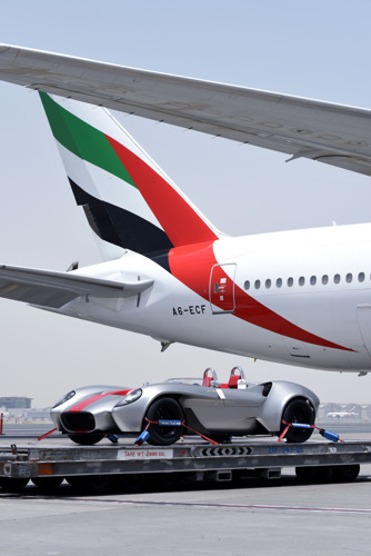 Emirates SkyCargo transports first car designed and built in the U.A.E.