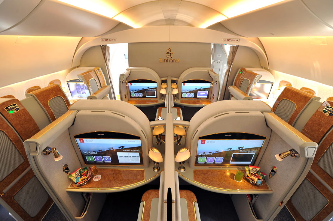 First Class on the Emirates Airbus A380.