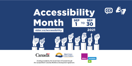 September is Accessibility Month at Small Business BC