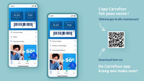 Carrefour onthult haar nieuwe applicatie
