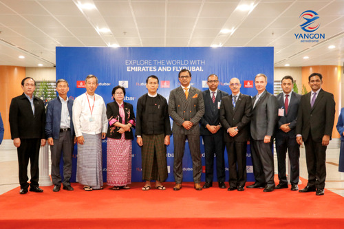 flydubai lands in Yangon