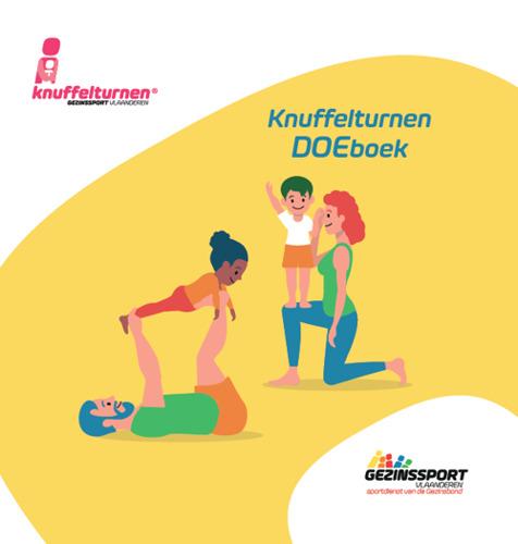 Nieuw doeboek rond knuffelturnen inspireert en stimuleert ouders en hun kleuters om ook tijdens coronatijd te blijven bewegen