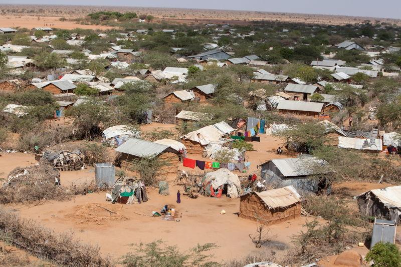 An aerial view of Dagahaley refugee camp, Dadaab, Kenya. Photographer: Tom Maruko