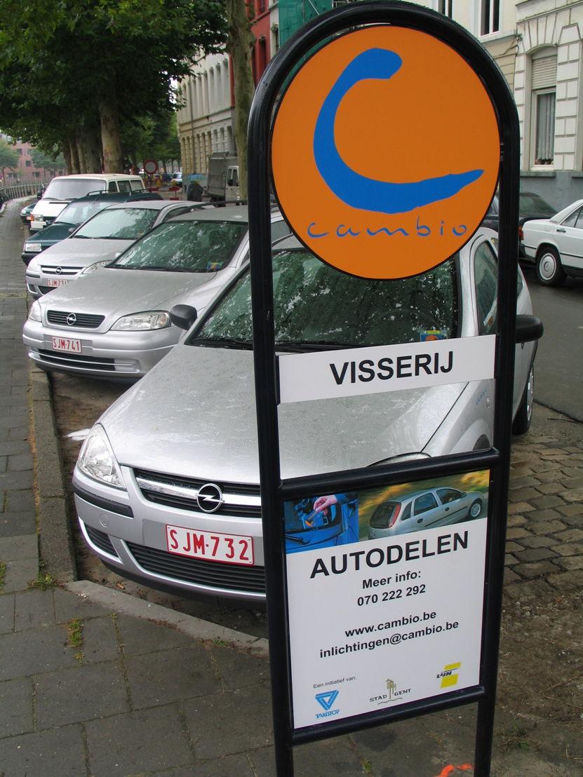 Cambio-standplaats Visserij in Gent