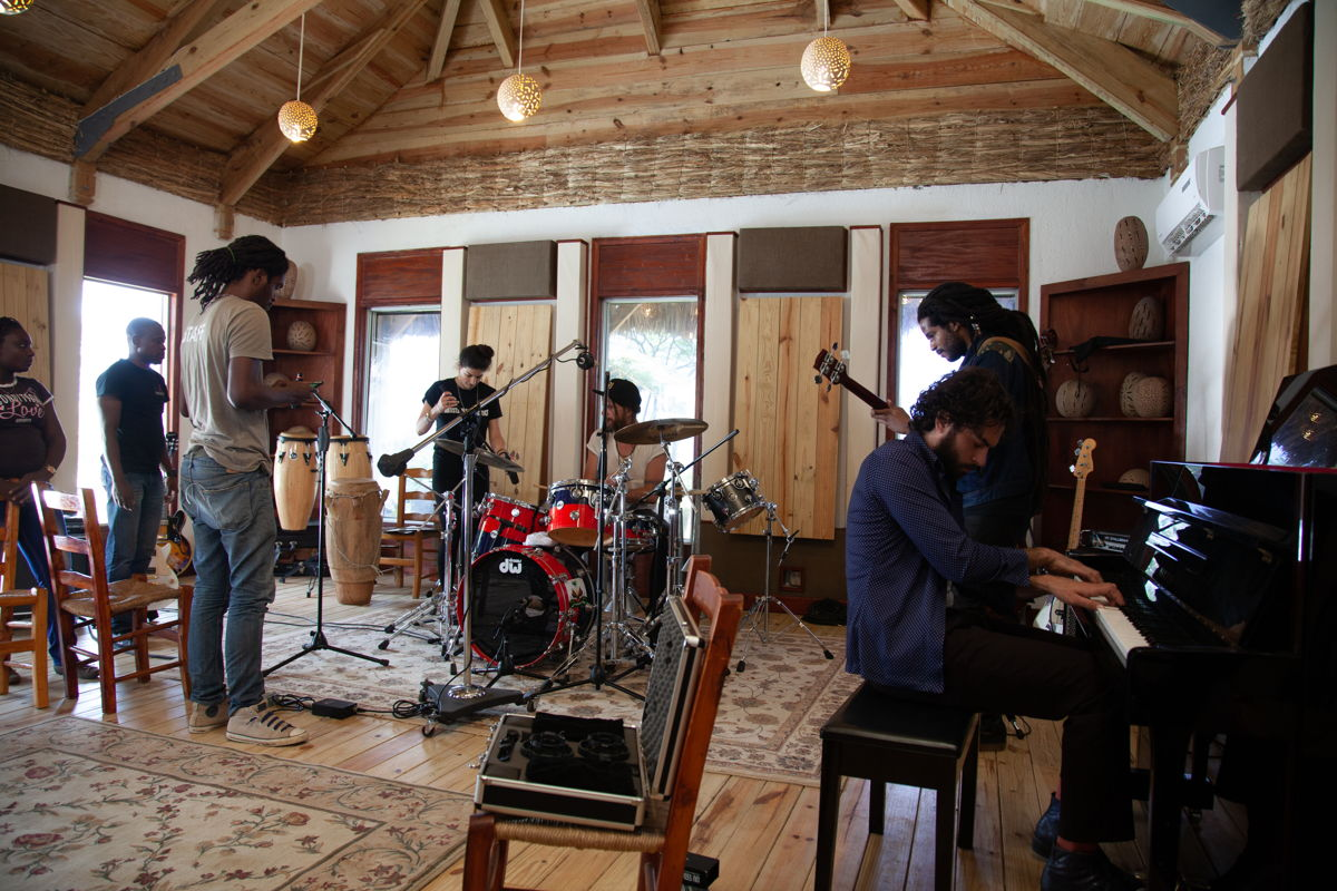 Benefit Album session in Artists Institute Live Room