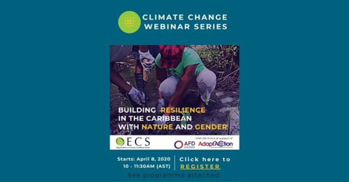 OECS and Adapt'Action to launch Environment and Resilience Webinar Series