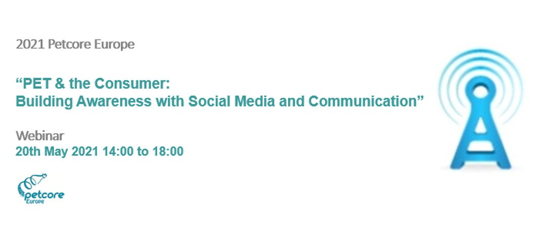 """Invitation for the webinar """"PET and the Consumer: Building Awareness with Social Media and Communication"""""""