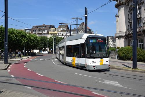 Werken aan traminfrastructuur K. Maria-Hendrikaplein in Gent