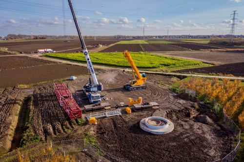 Open Werf Storm-windpark Melsele