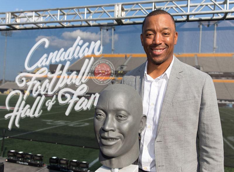 Geroy Simon, membre de la cuvée 2017 du Temple de la renommée du football canadien. Photo : Kevin Sousa/LCF