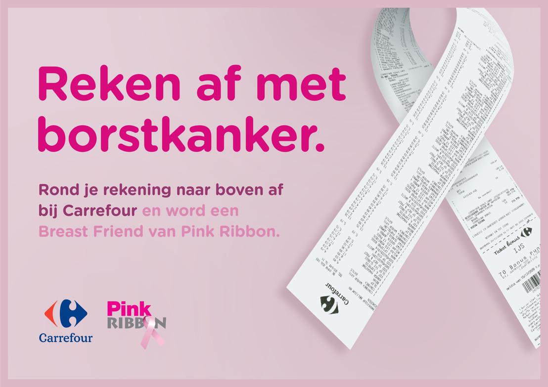 Carrefour moedigt haar klanten aan om solidair af te ronden ten voordele van Pink Ribbon