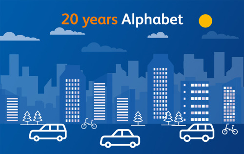 It's Alphabet's birthday! A look back at the past 20 years of mobility in Belgium and a look ahead at what is to come.