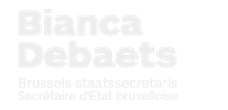 Staatssecretaris Bianca Debaets press room Logo