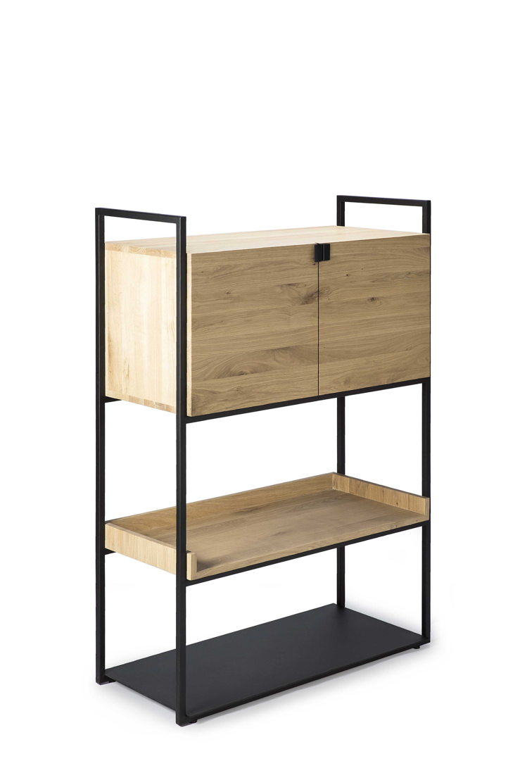 Ethnicraft Oak Cell Unit cupboard_L