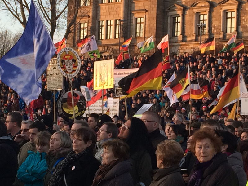 Pegida anti-migration rally