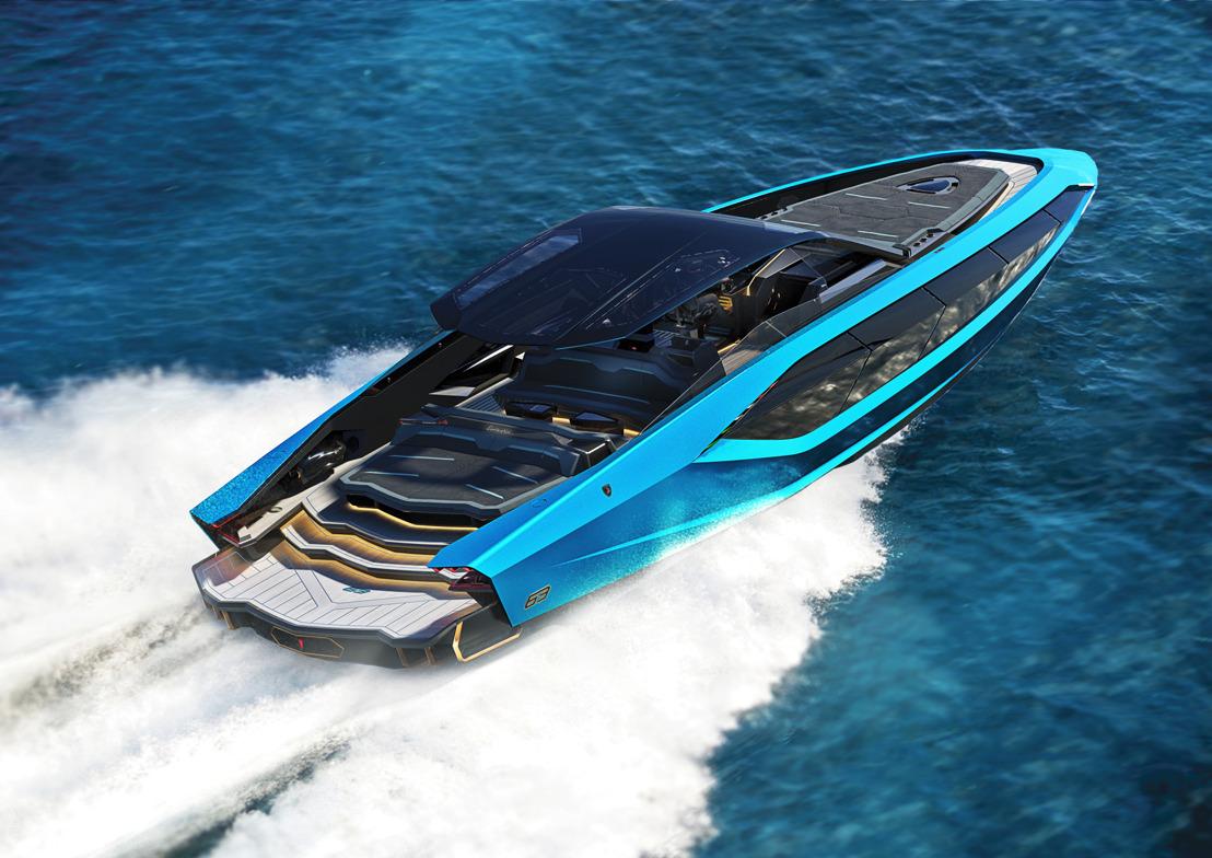Une Lamborghini sur l'eau