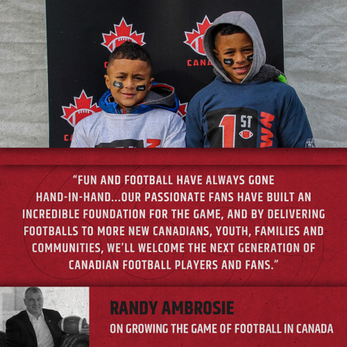 CFL TO KIDS: #TRYFOOTBALL!