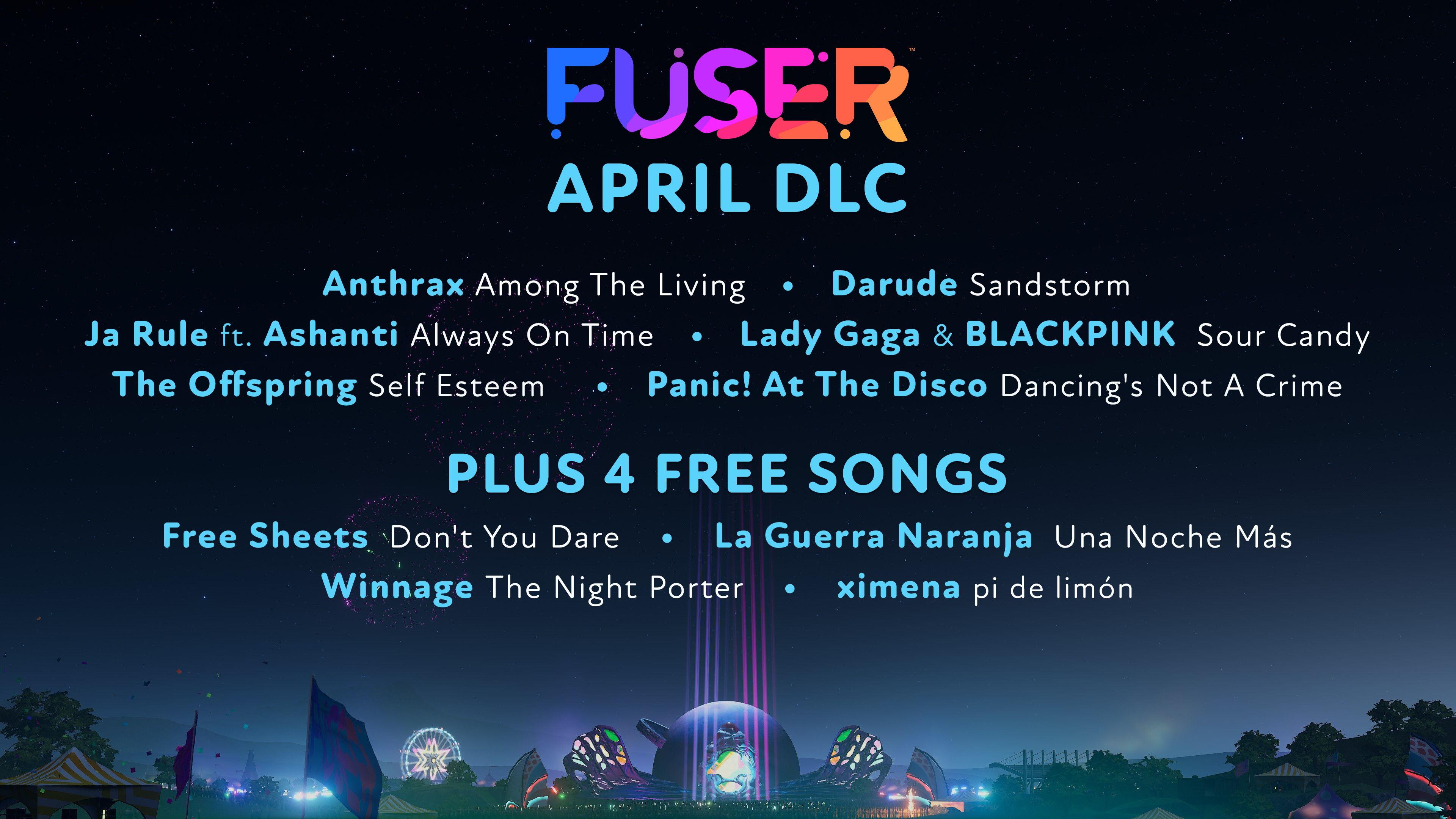 Dix nouveaux morceaux feront leur apparition au mois d'avril, dont quatre entièrement gratuits.