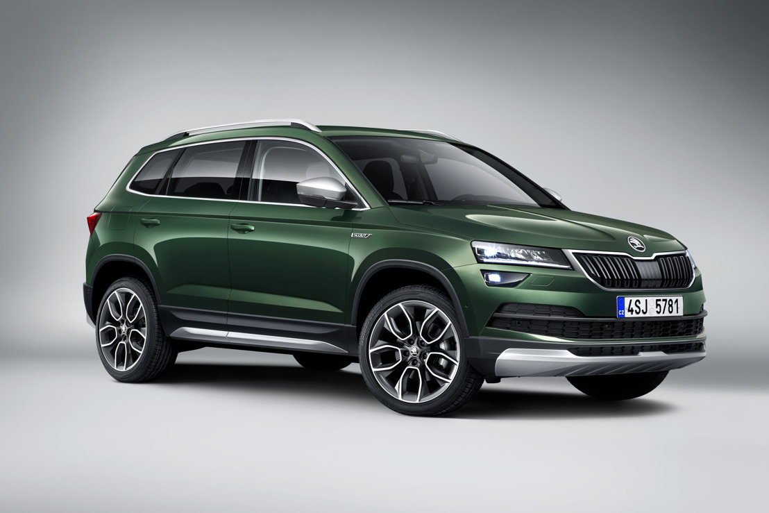 Fully equipped for off-road driving: the ŠKODA KAROQ SCOUT