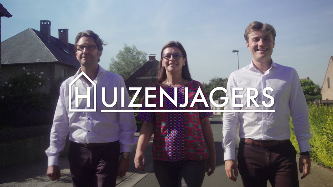 Nieuw seizoen Huizenjagers met o.a. Celien Deloof, Jimmy De Jonghe, Pieter Porters, Henk Van Cauwenbergh & Bert Van Poucke