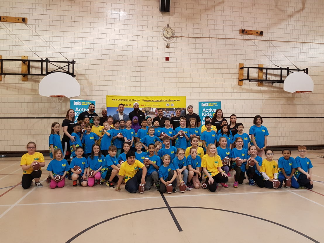 Students at Ecole Centennial Community School