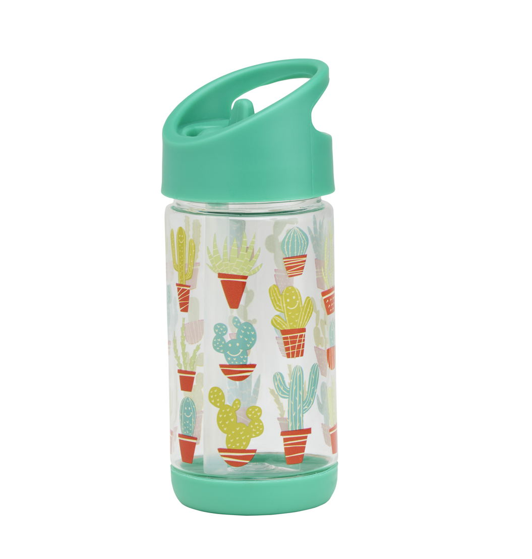 SugarBooger handige flip & sip tritan drinkfles Happy Cactus - €15,95