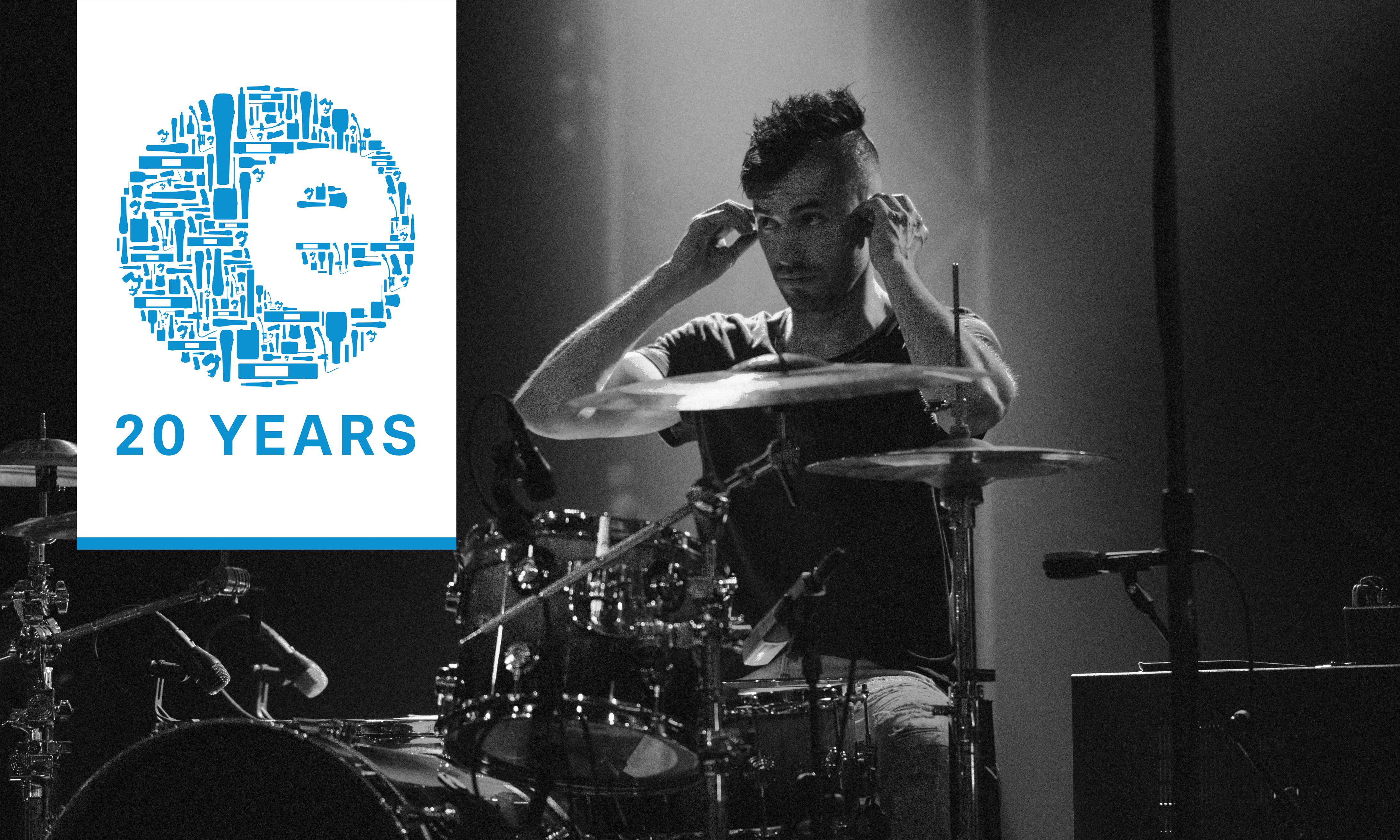 Die Instrumenten- und Gesangsmikrofone der evolution-Serie feiern ihren 20. Geburtstag