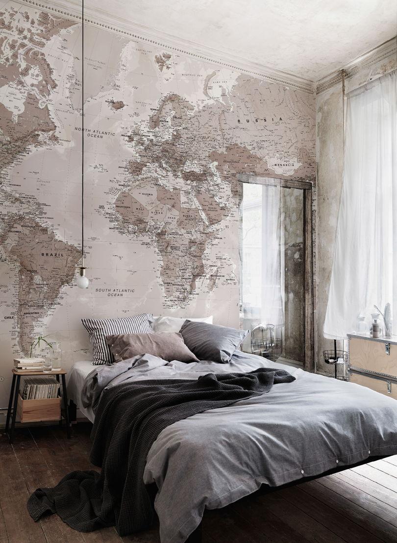 Neutral Shades World Map