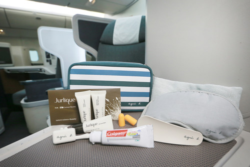 Cathay Pacific Offers New Amenity Kits for Business Class Travelers