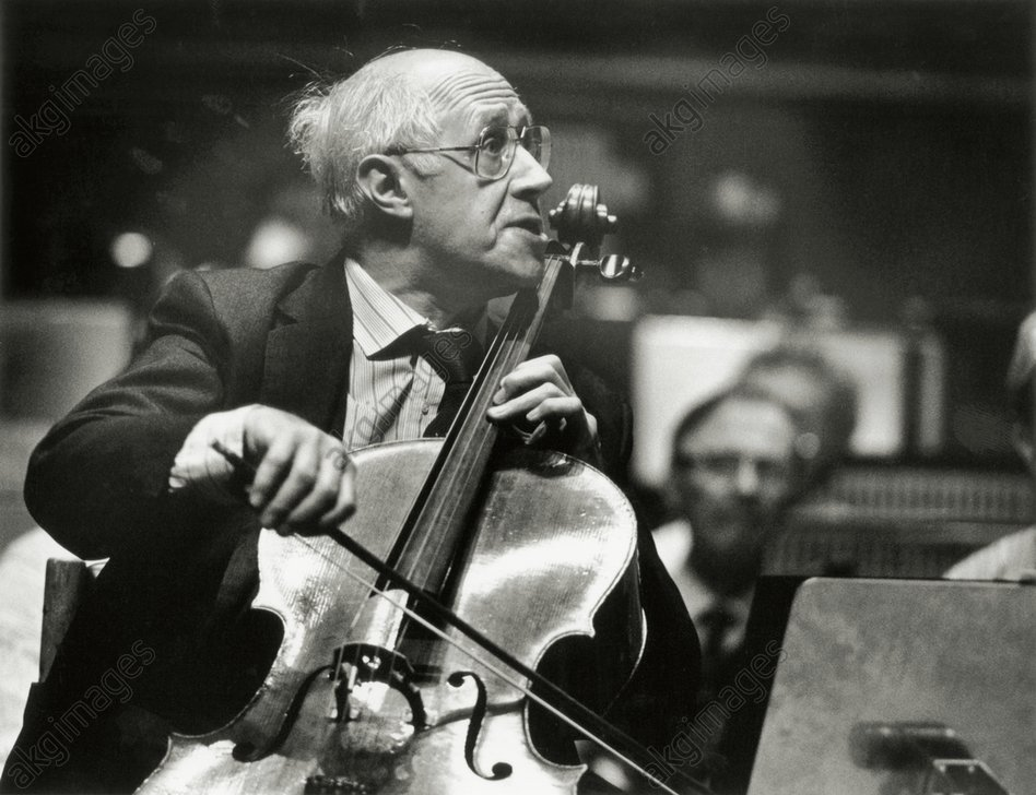 Mstislav Rostropovich, Soviet and Russian cellist and conductor<br/>AKG2321036