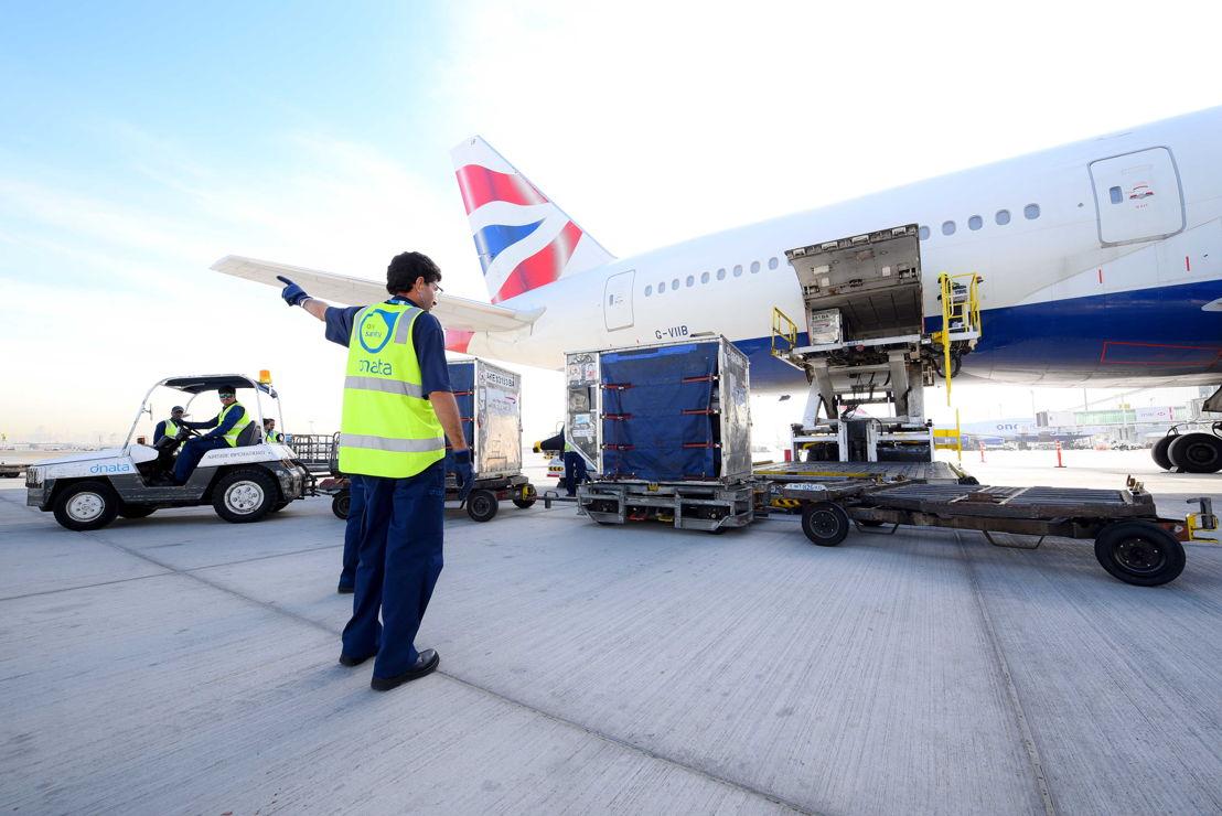 عمليات دناتا في الكونكورس  بمطار دبي الدولي.