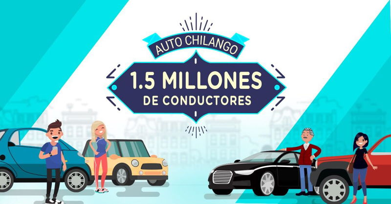Auto Chilango cuenta con más de 1.5 millones de usuarios