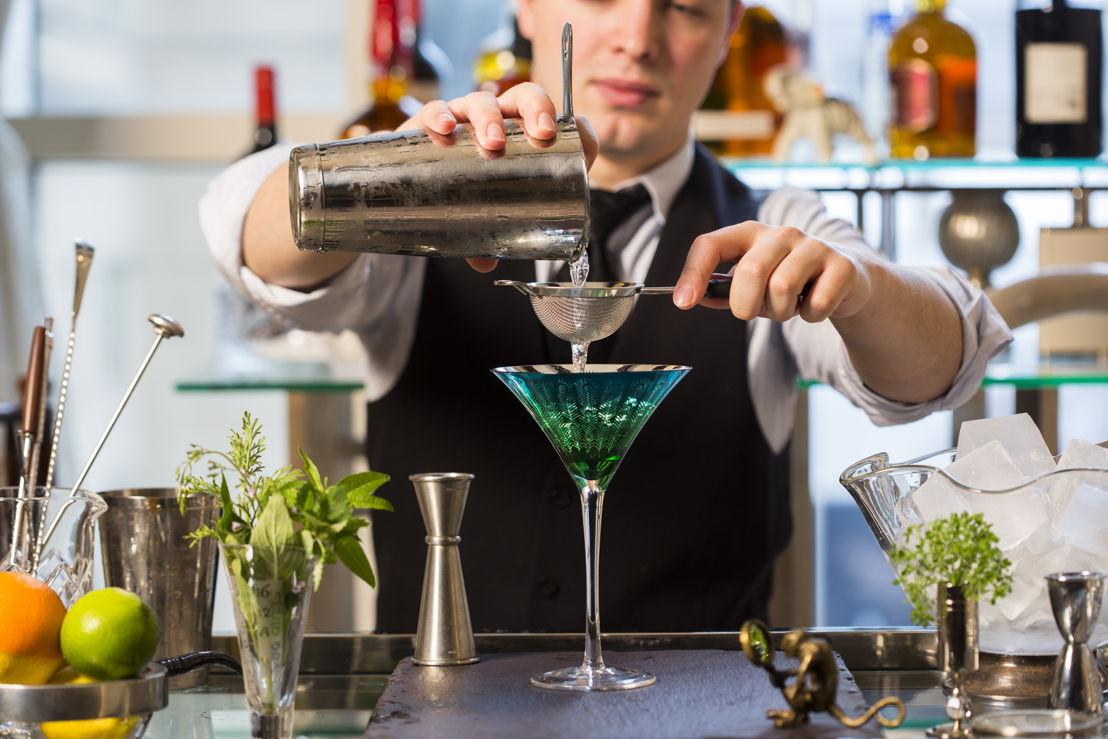 Vlad Novikov crafting bespoke cocktails for Z Bar