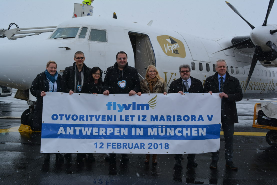 Picture taken at Maribor Airport with the Slovenian delegation traveling to Antwerp