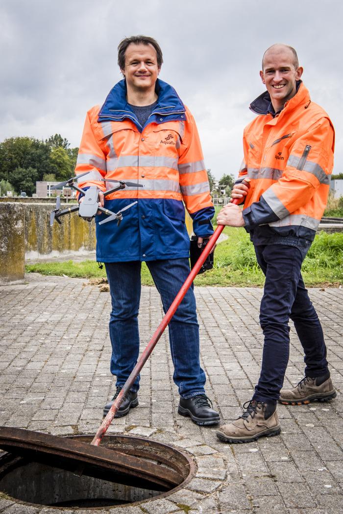Aquafin zet drones in om riolen te inspecteren