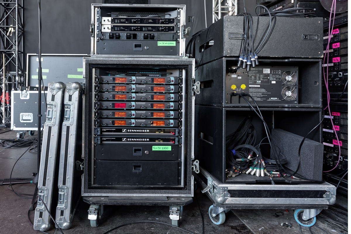 Sennheiser wireless technology at the monitoring console