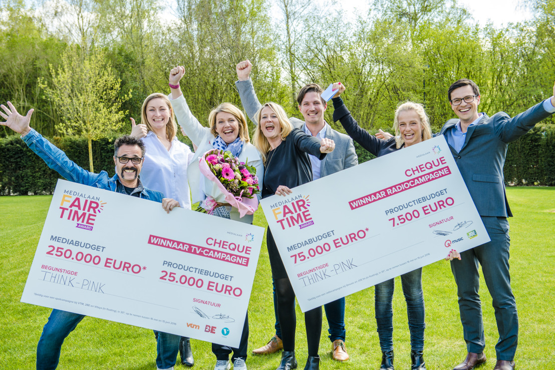 Think-Pink wint de MEDIALAAN Fairtime Award