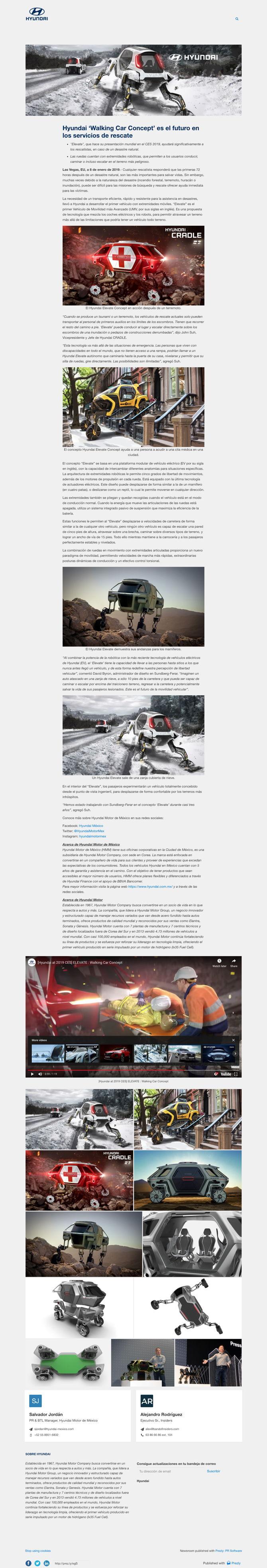 Hyundai 'Walking Car Concept' es el futuro en los servicios de rescate