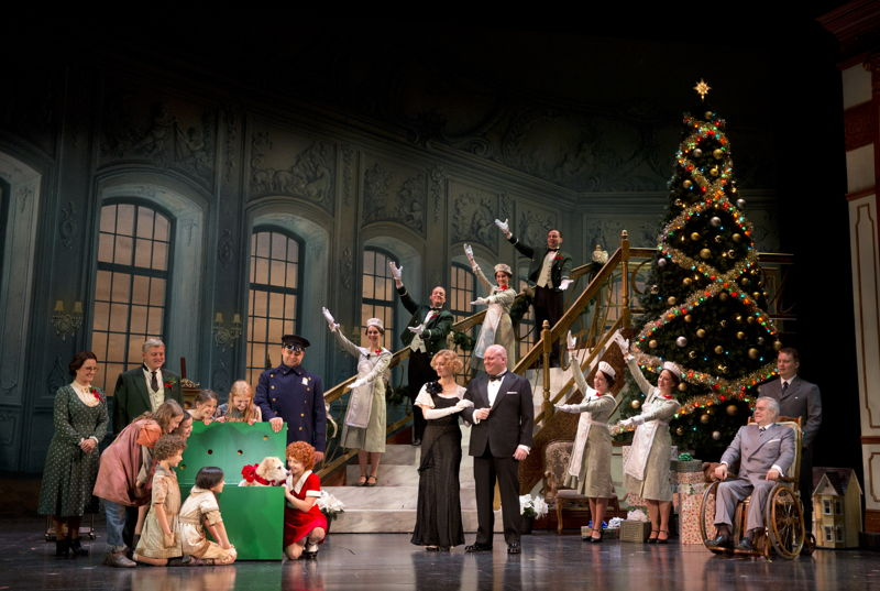 """The Company in """"A New Deal for Christmas""""<br/>Photo: Joan Marcus"""