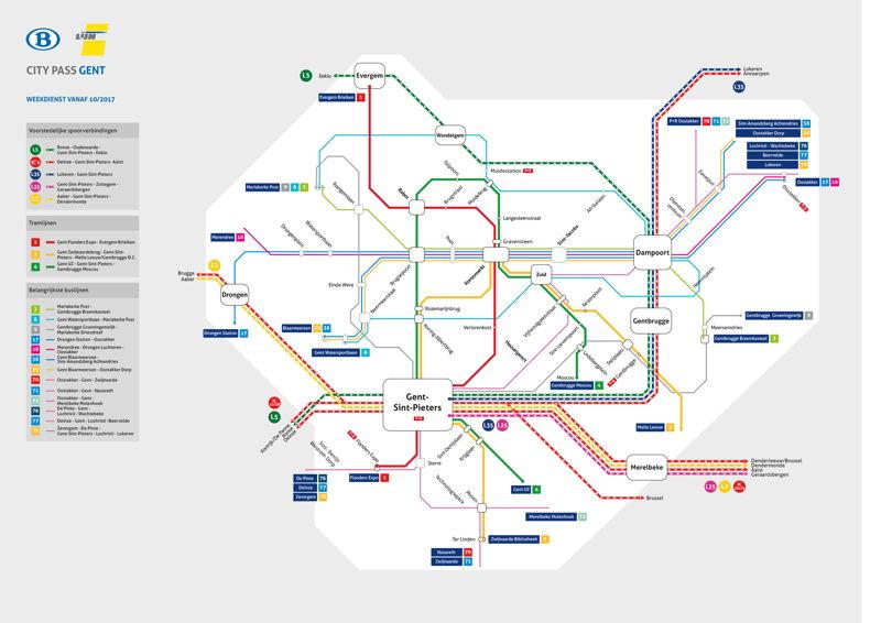 Gentse treinstations voor de City Pass Gent
