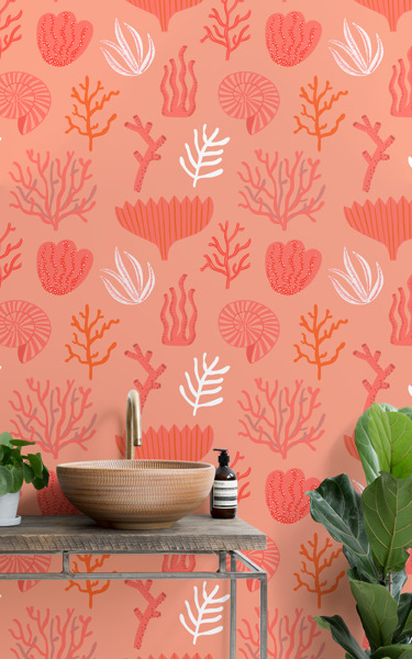 Living Coral wall mural celebrates